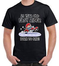 21 YEAR OLD EASY RIDER 21ST BIRTHDAY T-SHIRT - Gift Present Biker Motorbike Bike