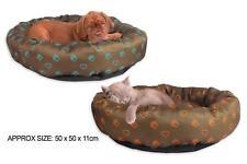 Imprimé polyester ronde animaux chat chien lit 2 couleurs
