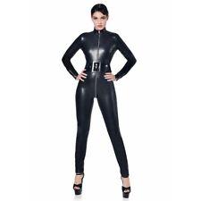 Patrice Catanzaro - Sweety - Combinaison catsuit sexy en tissu noir faux cuir