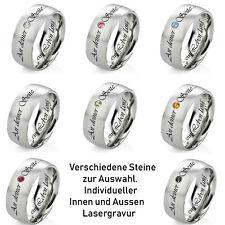 Partnerring Freundschaftsring Damenring 8 Ringe zur Auswahl mit Lasergravur DR2V