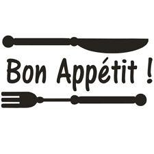 * 1 Sticker  pour Cuisine - Bon Appétit ! -- 12 Couleurs au choix *
