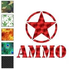 Army Star Ammo Decal Sticker Choose Pattern + Size #67