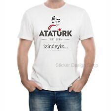 Atatürk Izindeyiz T-Shirt Druck Baumwolle Fruit of The Loom Türkiye Istanbul