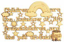 """Taglio laser """"i bambini sono l'ARCOBALENO DI VITA, nipoti sono la pentola d'oro"""""""
