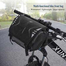 Impermeable Bicicleta Bolsa de Solo Hombro Montaje Manillar Bike Frontal Alforja