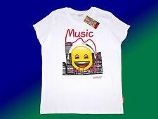 weißes emoji® Kindershirt T.-Shirt  mit Motiv Gr. 116-164  NEU