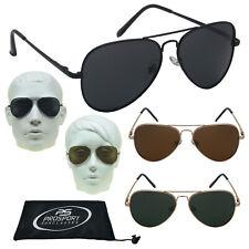 Polarized Fashion Aviator Sunglasses Metal Frame Black Brown Gold Spring Hinge
