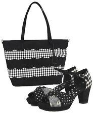 Ruby Shoo Black Xanthe Peeptoe Heels & Matching Mijas Bag