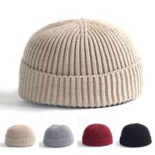 Men / Women Knitted Cap Skullcap Sailor Docker Fisherman Winter Warm Solid Color