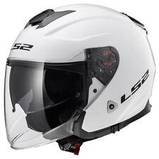 LS2 Infinity Solid Motorcycle Motorbike Open Face Helmet - White