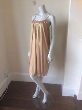 PHILLIP LIM 3.1 Gold Silk Jersey Dress Size XS