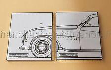 Q voiture 1/43  2 socle presentation FERRARI 166 inter 49 et 50 Heco Modeles