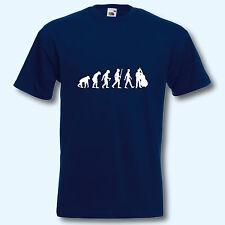T-Shirt, Fun-Shirt, Evolution Kontrabass, Musik, Musiker, Jazz, Jazzmusik