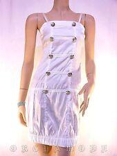 Tunique Robe BY LAETITIA blanc Bretelles boutons argentés Fête T 36 S 1 NEUF