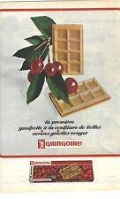 PUBLICITE ADVERTISING  1964  GRINGOIRE gateaux biscuits gaufrettes à la griotte
