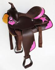 Western Cordura Trail Barrel Pleasure Horse SADDLE Bridle Brown 4992