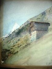 CERVINO Monte AOSTA SVIZZERA Matterhorn Acquarello orig