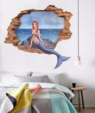 3D Bellissima Sirena 387 Parete Murales Parete Adesivi Decal Sfondamento IT