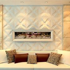 White 3D Wall Panels Livingroom Signboard Background Wall Art DIY Decor Paneling