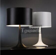 black/white New Bedroom Bedside Table Lamp Desk Light Reading Lighting