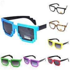 Retro 80s Style Pixel Square Geek/Nerd Sunglasses Vtg Style 8 Bit Pixelated NEW