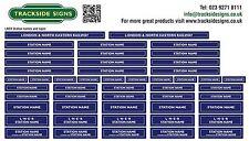 LNER Model Railway Station Names Signs - OO Gauge 4mm Die Cut Self Adhesive