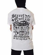 Dragstrip Clothing White Street Outlaw Kustom Biker Hot Rod Tattoo 13 T`Shirt