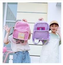6 Colors CLEAR ita bag Transparent Pin Display Backpack Kids Student School bags