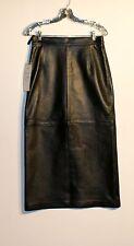 New Black Leather skirt 100% Genuine Napa lambskin leather Straight slim fit