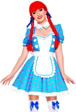 Music legs womens adult Raggedy Ann dress costume
