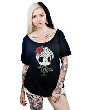 Too Fast Scoop Neck Lula Benefit Tee Tattoo Gothic Shirt mit Motiv