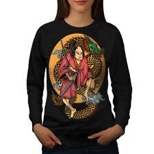 Samurai Sword Dragon Art Women Sweatshirt NEW | Wellcoda