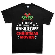 Christmas Movie Baking Xmas Gift New Tree Mens T shirt Tee Top T-shirt
