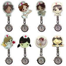 Cute Cartoon Nurse Brooch Fob Watch Nursing Nurses Pendant Clip-on Pocket Quartz