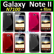 Etui Housse Coque Gel Motif S Vague S Line Samsung Galaxy Note II 2 N7100 Film