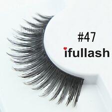 #47  6 or 12 pairs of ifullash 100% human hair Eyelashes- BLACK