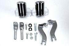 Rail Style Adjustable Footpeg Kit Chrome,for Harley Davidson motorcycles,by V...