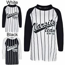 Boys Top Kids Designer's Varsity Team New York Print T Shirt Tops Age 7-13 Years