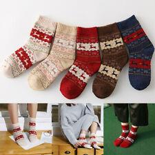 Christmas Women Winter Warm Knitted Wool Socks Cotton Short Ankle Socks Hosiery