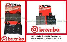 07BB1935+ 07BB3135 Pasticche Freno Brembo Ant+Post Ducati Monster 600-620 >2000