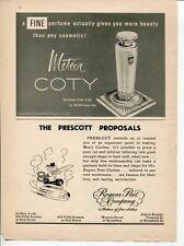 Coty Meteor Perfume Rogers Peet Company Bellows Partner 1954 Original Vintage Ad