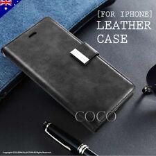 Apple iPhone X 7 8 Plus Leather Wallet Case Retro Classic Card Pocket Pouch