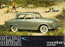 Simca Aronde P60 Montlhery & Monaco 1961-62 UK Market Foldout Sales Brochure