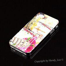 iPhone 4 4S Hard Case Schutz Hülle Cover Etui Paris Pisa Eiffelturm + Folie