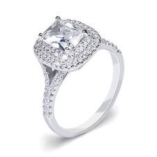 Women's ENGAGEMENT RING 2 CT Carat VVS1 Emerald CUT Silver Bridal Size 5-10 Tay