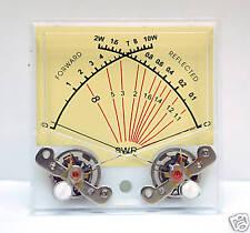 1pc SP-70 Panel Dual SWR Forwad 10W / Reflected 2W Dual Meter 100uA SD FlachStar