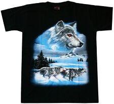 T-Shirt Wolf-Rudel, Winter Wölfe, Gr.S,M,L Cowboy Biker Indianer Western Trucker