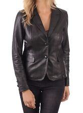 Women's Stylish Classic Genuine Lambskin Nappa Leather Blazer WB 37