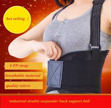 Double suspender Lumbar Support Lower Back Brace Weight Lifting back Belt brace