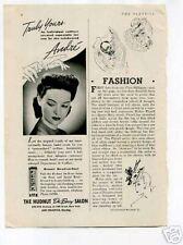 Hudnut DuBarry Salon Andre Delafield 1950's Original Ad